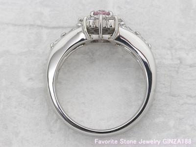 Fancy Purplish Pink diamond 0.388ct Ring
