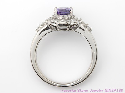 Violet Sapphire 1.22ct Ring