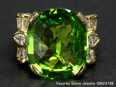 Peridot 22.51ct ring