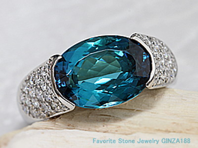 Blue Tourmaline 4.358ct ring