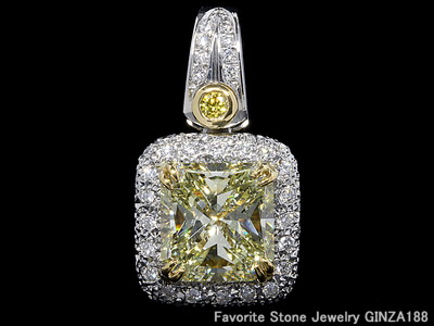 Yellow Diamond Pendant Head