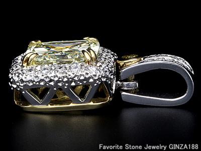 Yellow Diamond Pendant Head