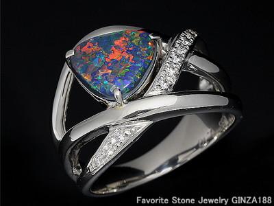 Black Opal 1.65ct Ring