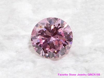 ファンシーインテンスピンクダイヤモンド 0.220ct ルース