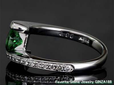 Tsavorite (Green Grossular Garnet)  0.95ct Ring