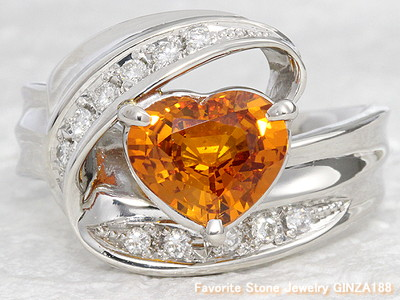 Golden sapphire 1.67ct ring