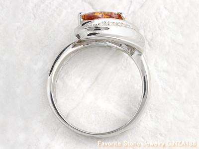 Golden sapphire 1.67ct ring