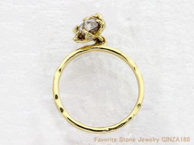 Rose cut diamond ring 0.947 ct