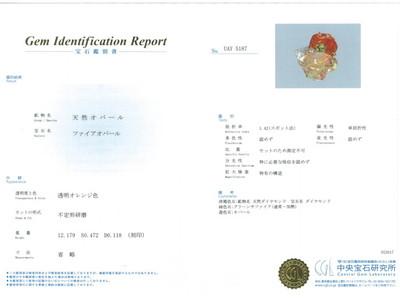 ファイアオパール/オパール 合計12.179ct リング