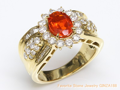 Fire Opal 0.80 ct Ring