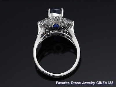Unheated sapphire ring 4.07 ct