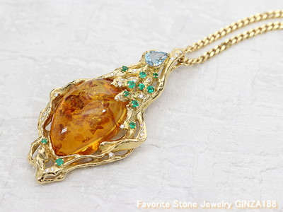 Amber 21.0ct Brooch and Pendant head