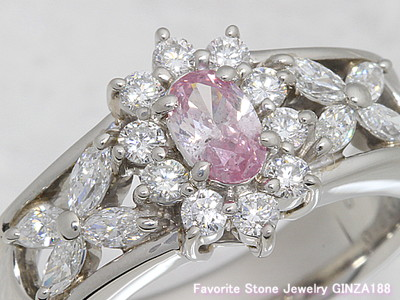Fancy Purplish Pink diamond 0.388ct Ring