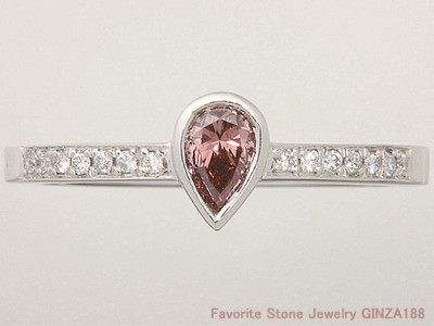 Fancy deep pink diamond ring 0.247 ct