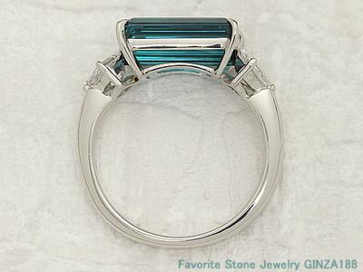 Indicolite 3.42ct ring