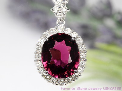 Violet Tourmaline 6.931ct Necklace