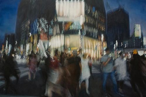虹の絵 - 数寄屋橋交差点 133.7cm×199.8cm キャンバスに油彩2017年 - コピー