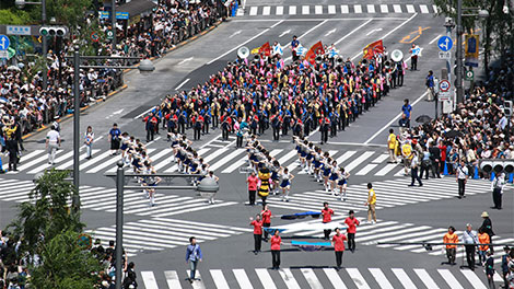 Traffic Safety Ginza Golden Parade